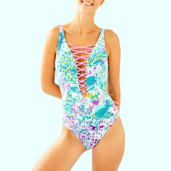 Lilly Pulitzer Other - Lilly Pulitzer Isle Lattice One-Piece Swimsuit
